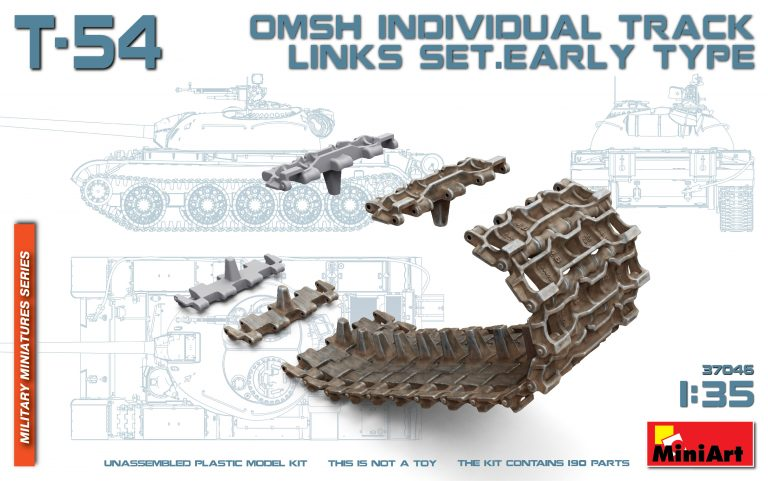 37046 T-54 OMSH INDIVIDUAL TRACK LINKS SET. EARLY TYPE