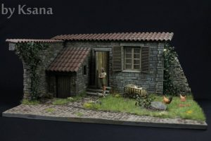 36008 ITALIAN VILLAGE DIORAMA + 35548 FURNITURE SET + Mikhail Zhukov