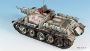 35181 SU-122 SOVIET SELF-PROPELLED GUN. Early Prod. + Yang Yu Pei