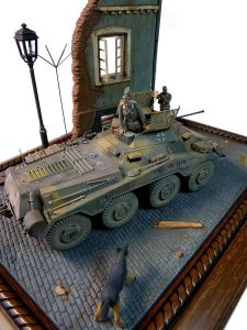 36001 STREET w/RUINED HOUSE + 35072 GERMAN ARMORED CAR CREW + Alexander Vorushilin
