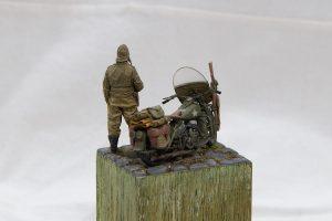 35080 U.S. WW II Motorcycle WLA + Oleg