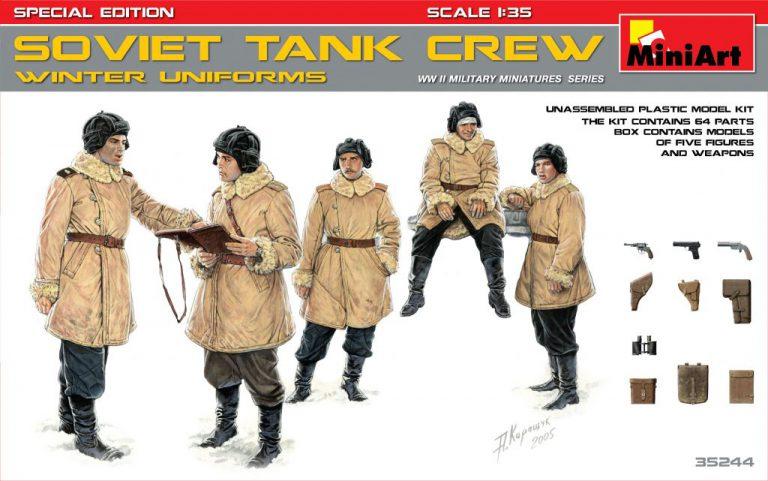 35244 ソビエト タンククルー冬季防寒服着用フィギュア5体入装備品付(特別版)