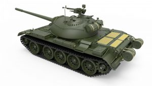 3D renders 37017 T-54Aソビエト中戦車