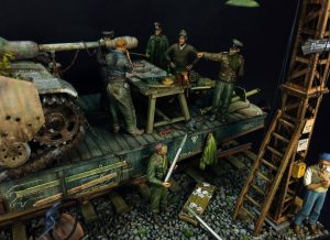 35529 METAL TELEGRAPH POLES + 35550 WOODEN BARRELS & VILLAGE UTENSILS + 35167 GERMAN TANK CREW + Young Heon Kim
