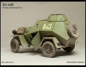 35097 BA-64B SOVIET ARMOURED CAR w/CREW + Roman Yarlikov