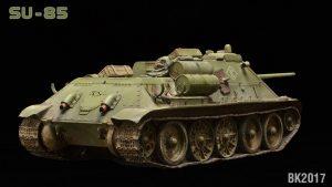 35178 SU-85 SOVIET SPG Mod. 1943 w/CREW (Early Production) + Bryan Krueger