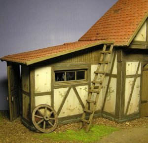 35556 SHED WITH WOODEN FENCE + Roman of Arkhangelsk