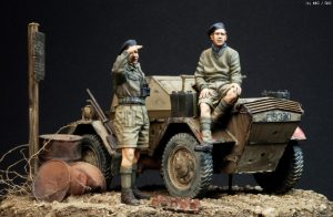35067 DINGO Mk.1b BRITISH SCOUT CAR w/CREW + Ki-Yeol Yoon