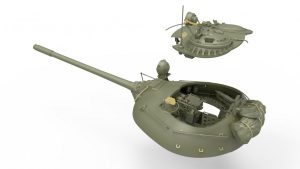 3D renders 37018 Т-55 Мод. 1963. С ИНТЕРЬЕРОМ