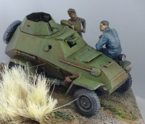 35097 BA-64B SOVIET ARMOURED CAR w/CREW + 35009 SOVIET TANK CREW AT REST + Peter Samsonov