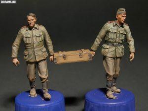 35029 GERMAN ARTILLERY CREW + Vladimir Demchenko