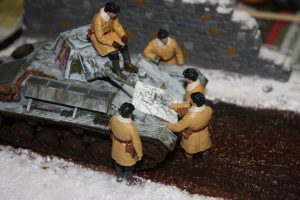 35025 T-70 M EARLY PRODUCTION SOVIET LIGHT TANK w/CREW 36047 COUNTRY ROAD + Dave Haskell
