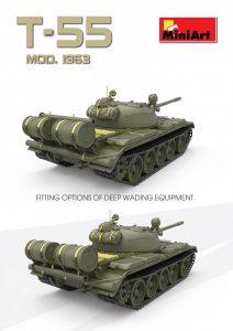 3D renders 37018 T-55 1963年型 坦克 含内构