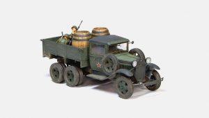 35136 GAZ-AAA Mod. 1940. CARGO TRUCK + 35550 WOODEN BARRELS & VILLAGE UTENSILS + Sanyaga