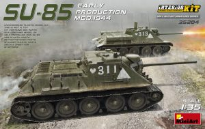 35204 SU-85 SOVIET SELF-PROPELLED GUN MOD.1944 EARLY PRODUCTION. INTERIOR KIT  +  Евгений Солодухин (Evgeniy Solodyhin)