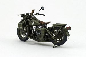 35080 U.S. WW II Motorcycle WLA + Steeve Ingels