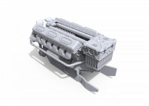 3D renders 37006 V-54 ENGINE