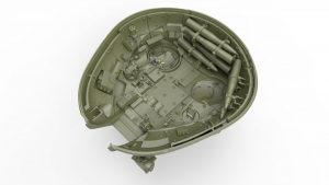 3D renders 37016 T-55A EARLY Mod. 1965. INTERIOR KIT