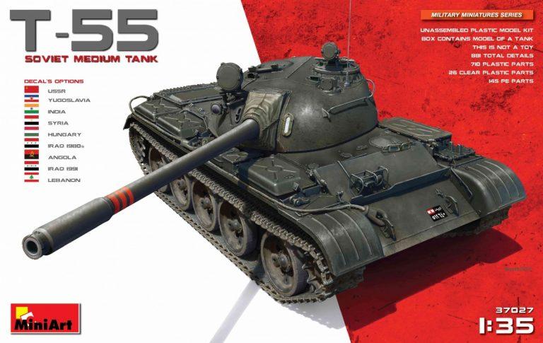 37027 T-55 SOVIET MEDIUM TANK
