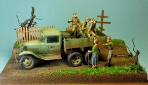 35136 GAZ-AAA Mod. 1940. CARGO TRUCK + 35539 VILLAGE ACCESSORIES + Stanisław Jabłoński