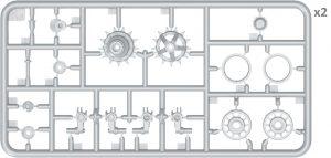 Content box 37056 Набор Катков для Танков T-54, T-55 (Ранних Модификаций)