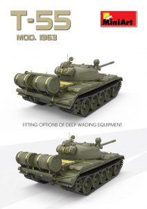 3D renders 37027 T-55ソビエト中戦車