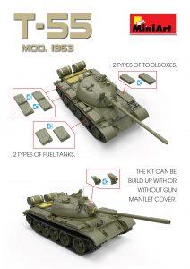 3D renders 37027 T-55 SOVIET MEDIUM TANK
