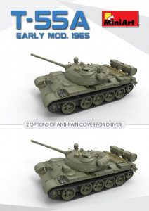 3D renders 37016 T-55A初期型Mod.1965フルインテリア(内部再現)