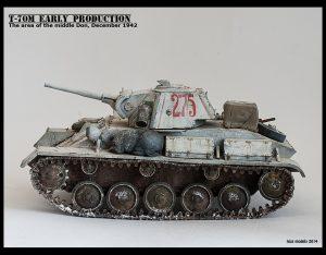 35025 T-70M EARLY PRODUCTION SOVIET LIGHT TANK w/CREW + Roman Proshkin