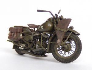 35080 U.S. WW II Motorcycle WLA + Vladimir Slusarev