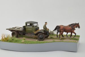 35124 GAZ-AA CARGO TRUCK 1.5t TRUCK + 35057 HORSES DRAWN FIELD KITCHEN KP-42 + 35042 WORLD WAR II DRIVERS + Vitaliy