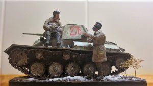 35194 T-70M SOVIET LIGHT TANK w/CREW. SPECIAL EDITION + Zoltán Ranschburg