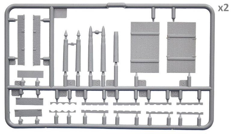 35261 Sowjetische Munitionskisten mit Granaten