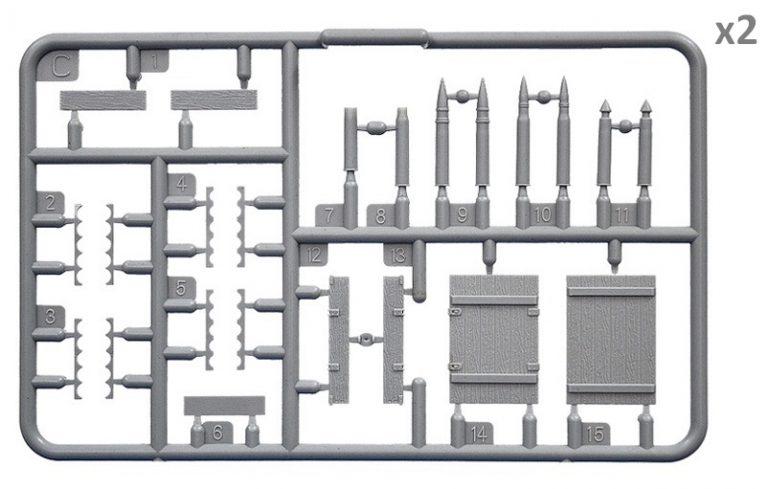 35261 苏联弹药箱连弹壳