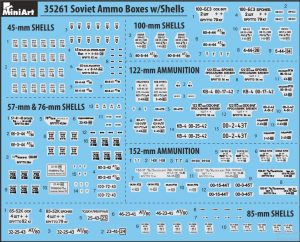Content box 35261 SOVIET AMMO BOXES w/SHELLS