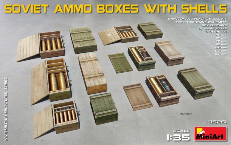SOVIET AMMO BOXES w/SHELLS
