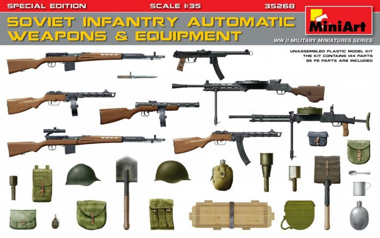 35268 SOVIET  INFANTRY AUTOMATIC WEAPONS & EQUIPMENT. SPECIAL EDITION