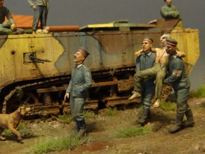 35534 EUROPEAN BARN + 38004 FRENCH CIVILIANS '30s-'40s + 35105 FRENCH TANK CREW + Sergey Kovalev