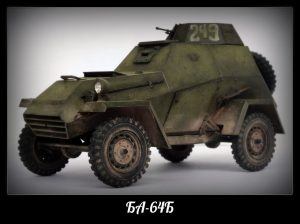 35097 BA-64B SOVIET ARMOURED CAR w/CREW + Dmitry Slivkov