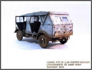 35147 L1500A (Kfz.70) GERMAN PERSONNEL CAR + Roman Zhuk