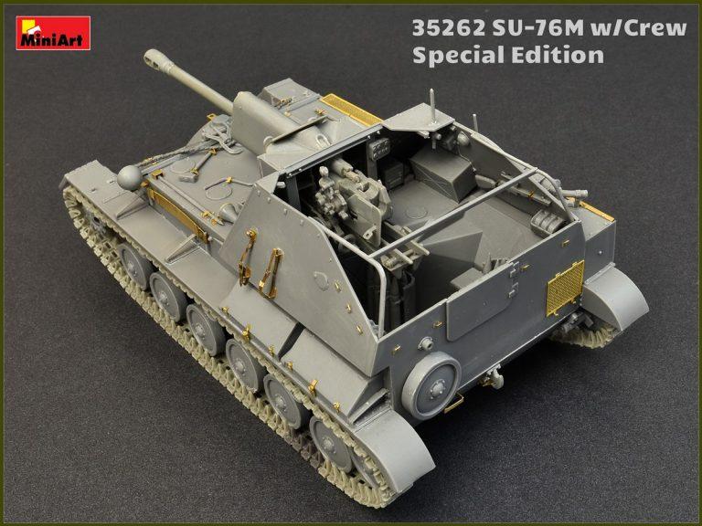 35262  ソビエト自走砲SU-76M(戦車兵5体・砲弾・弾薬箱付)特別版