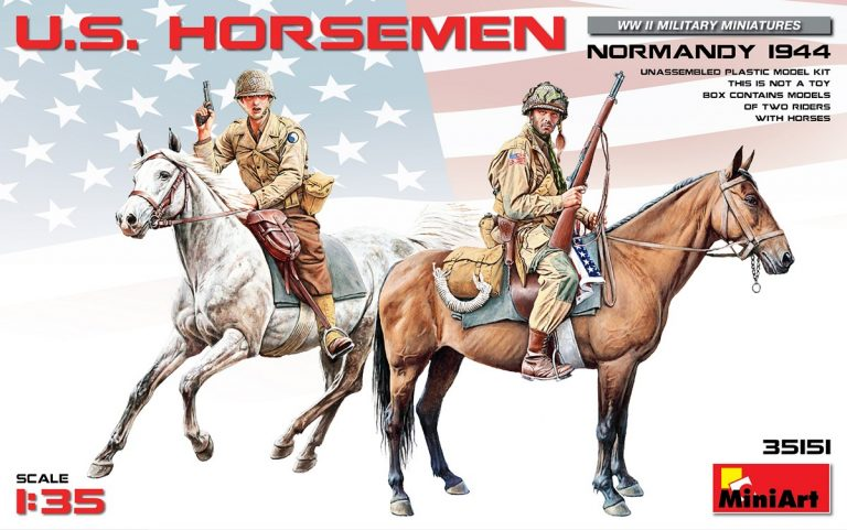 35151 U.S. HORSEMEN. NORMANDY 1944
