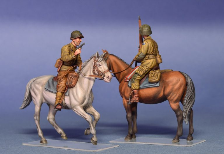 35151 アメリカ兵(ノルマンディ1944)乗馬セット