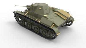 3D renders 35232 T-60 晚期型,原型(高尔基汽车工厂) 带内构