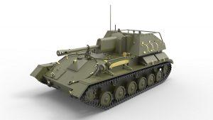 3D renders 35262 SU-76M w/Crew SPECIAL EDITION