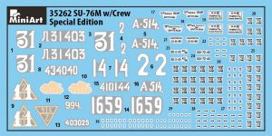 Content box 35262 SU-76M w/Crew SPECIAL EDITION