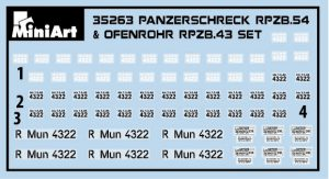 Content box 35263 PANZERSCHRECK RPzB.54 & OFENROHR RPzB.43 SET