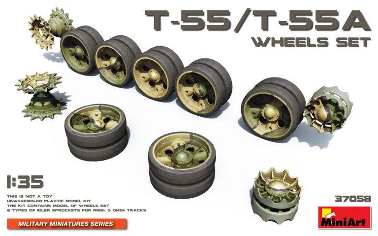 T-55/T-55A  WHEELS SET