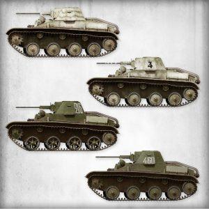 Side views 35232 T-60 späte Ausführung mit Zusatzpanzerung (Produktion GAZ Werke)