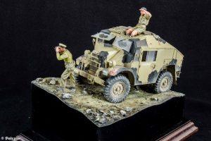 35069 BRITISH ARMORED CAR CREW + Pelczar Modelling Workbench